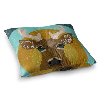 Stag in Grass by Art Love Passion Floor Pillow Size: 23 x 23