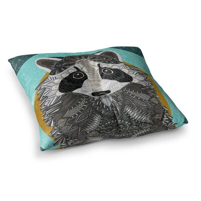 Racoon in Grass by Art Love Passion Floor Pillow Size: 26 x 26