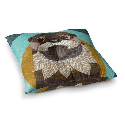 Otter in Water by Art Love Passion Floor Pillow Size: 23 x 23