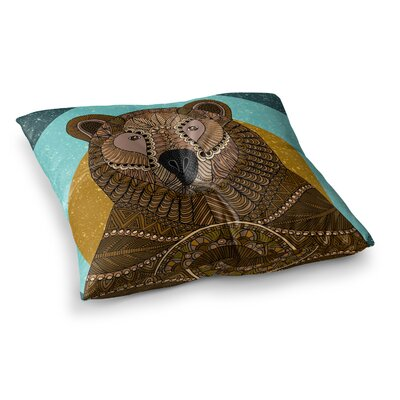 Bear in Grass by Art Love Passion Floor Pillow Size: 26 x 26