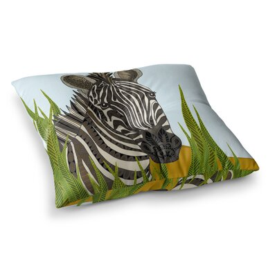 Zebra by Art Love Passion Floor Pillow Size: 23 x 23
