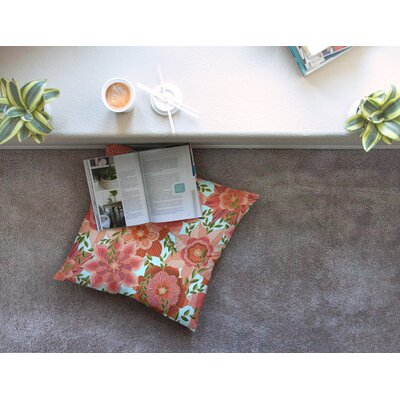 Flower Power Floral by Art Love Passion Floor Pillow Size: 26 x 26