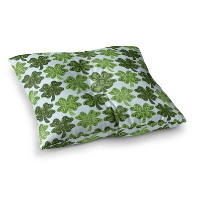 Lucky You Shamrock by Art Love Passion Floor Pillow Size: 23 x 23