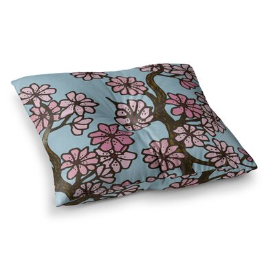 Cherry Blossoms by Art Love Passion Floor Pillow Size: 26