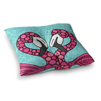 Flamingos by Art Love Passion Floor Pillow Size: 23 x 23