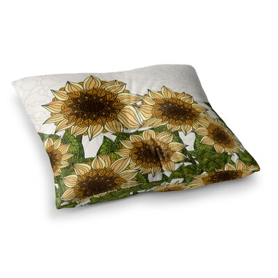 Sunflower Field by Art Love Passion Floor Pillow Size: 23 x 23