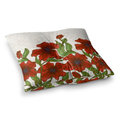 Poppy Field by Art Love Passion Floor Pillow Size: 23 x 23