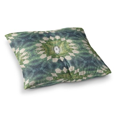 Forest Leaves Repeat Geometric by Art Love Passion Floor Pillow Size: 26 x 26