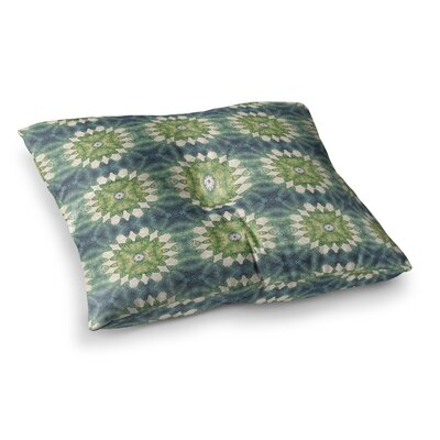 Forest Leaves Pattern Geometric by Art Love Passion Floor Pillow Size: 26 x 26