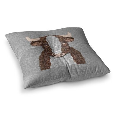 Gustaf the Bull by Art Love Passion Floor Pillow Size: 26 x 26