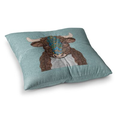 Bennie the Bull by Art Love Passion Floor Pillow Size: 23 x 23