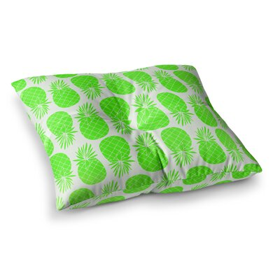 Pinya Neon by Anchobee Floor Pillow Size: 23 x 23, Color: Lime/Green