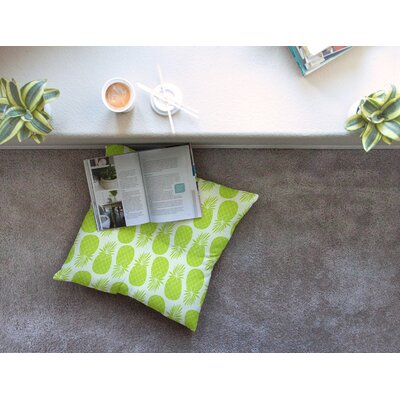 Pinya Lime Pattern by Anchobee Floor Pillow Size: 26 x 26