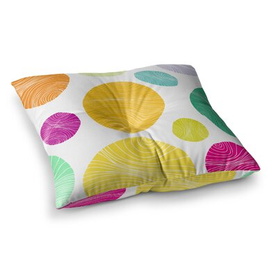 Eolo Circles by Anchobee Floor Pillow Size: 23 x 23