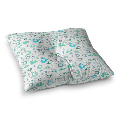 Birdies by Anchobee Floor Pillow Size: 26 x 26