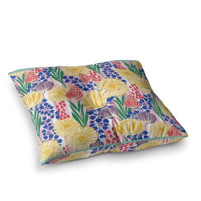 Pretty Bouquet Floral by Amy Reber Floor Pillow Size: 23 x 23