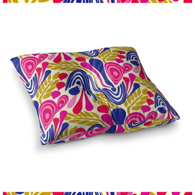 Abstract Bouquet by Amy Reber Floor Pillow Size: 23 x 23