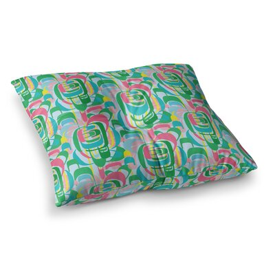 Rainbow Geometric by Amy Reber Floor Pillow Size: 23 x 23