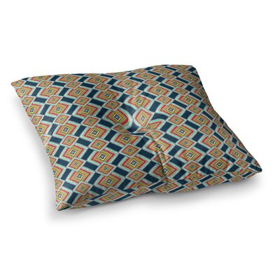 Rainbow IKAT Abstract by Amy Reber Floor Pillow Size: 23 x 23