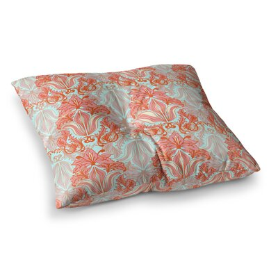 Baroque Pattern by Amy Reber Floor Pillow Size: 23 x 23