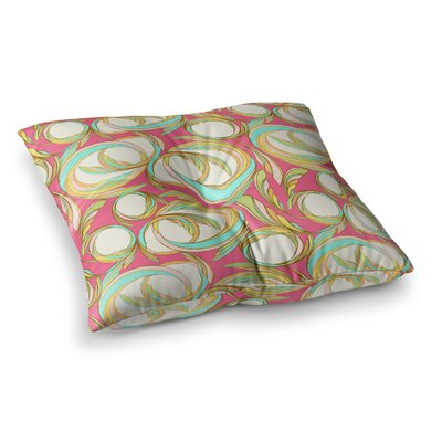 Cirle Sings by Amy Reber Floor Pillow Size: 26 x 26