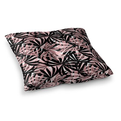 Palms Leaves Pattern by Amy Reber Floor Pillow Size: 23 x 23
