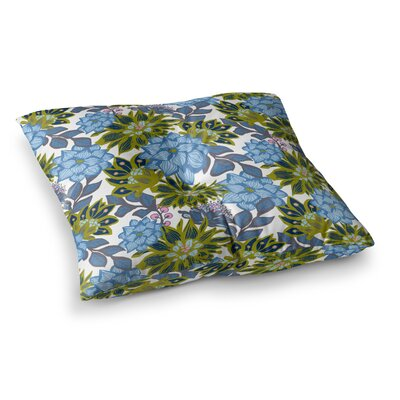 Dahlias Floral by Amy Reber Floor Pillow Size: 23 x 23