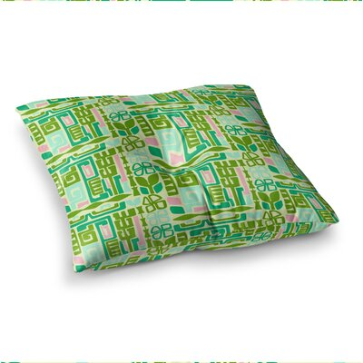 Maze Vector by Amy Reber Floor Pillow Size: 23 x 23