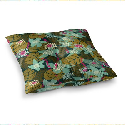 Tropical Floral by Amy Reber Floor Pillow Size: 26 x 26