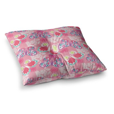 Baroque Butterflies by Anneline Sophia Floor Pillow Size: 23