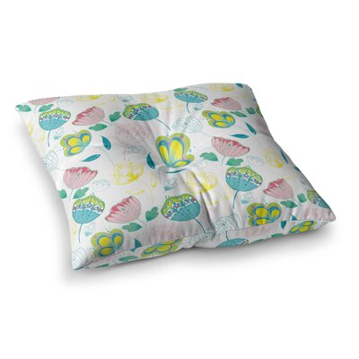 Indie Floral by Anneline Sophia Floor Pillow Size: 23 x 23