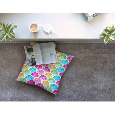 Rina by Anneline Sophia Floor Pillow Size: 26 x 26
