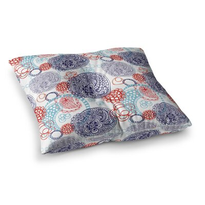 Lacy Ying Yang by Anneline Sophia Floor Pillow Size: 26 x 26