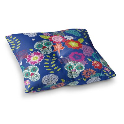 Day of the Dead Aztec by Anneline Sophia Floor Pillow Size: 26 x 26