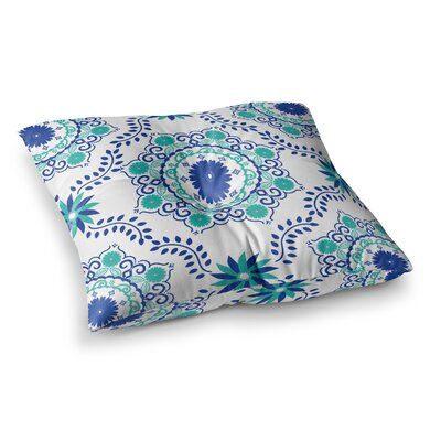 Lets Dance by Anneline Sophia Floor Pillow Size: 26 x 26, Color: Teal/Aqua/Blue