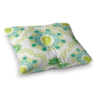 Lets Dance by Anneline Sophia Floor Pillow Size: 23 x 23, Color: Teal/Green