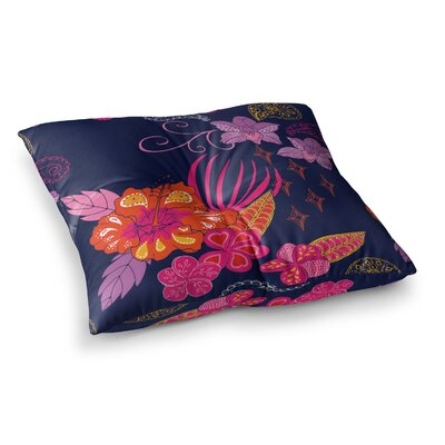 Tropical Paradise Floral by Anneline Sophia Floor Pillow Size: 23 x 23