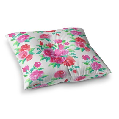 Roses Floral by Anneline Sophia Floor Pillow Size: 23 x 23