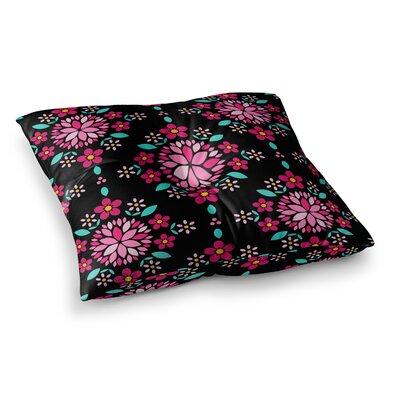 Dahlia Mandala by Anneline Sophia Floor Pillow Size: 26 x 26