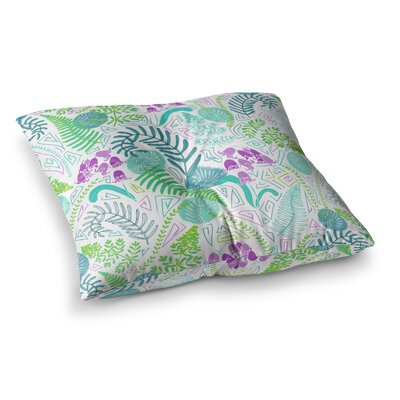 Fern Forest by Anneline Sophia Floor Pillow Size: 26 x 26