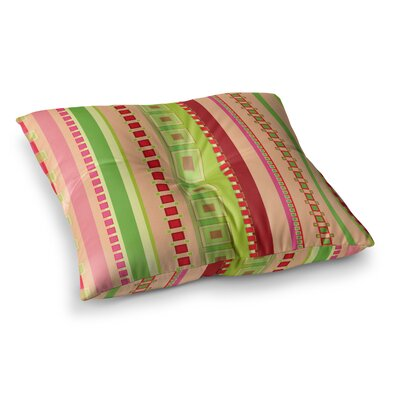 Festive Stripes in Digital by Allison Soupcoff Floor Pillow Size: 26 x 26
