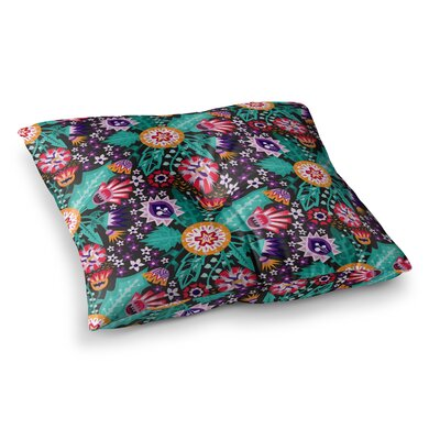Folk Meadow by Agnes Schugardt Floor Pillow Size: 23 x 23