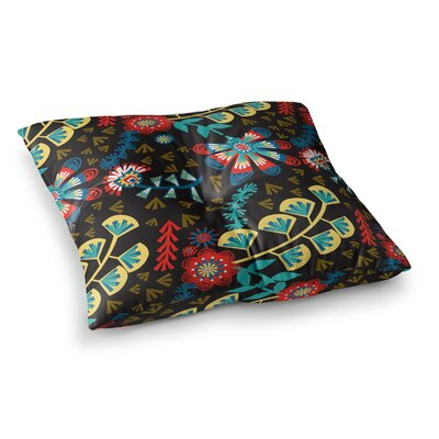Wycinanka Abstract by Agnes Schugardt Floor Pillow Size: 26 x 26