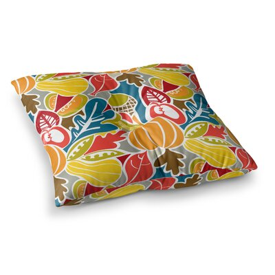 Fall Harvest Food by Agnes Schugardt Floor Pillow Size: 23 x 23