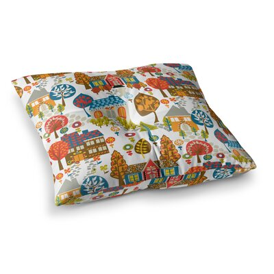 In the Village Vintage by Agnes Schugardt Floor Pillow Size: 26 x 26
