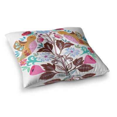 Spring Meadow Illustration by Agnes Schugardt Floor Pillow Size: 26 x 26