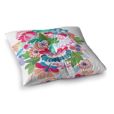 Bouquet Illustration by Agnes Schugardt Floor Pillow Size: 23 x 23