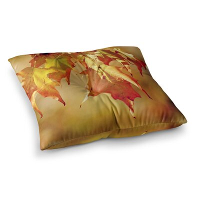 Autumn Leaves Vibrant by Angie Turner Floor Pillow Size: 23 x 23