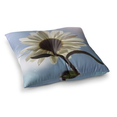 Daisy Bottom Sky Flower by Angie Turner Floor Pillow Size: 26 x 26