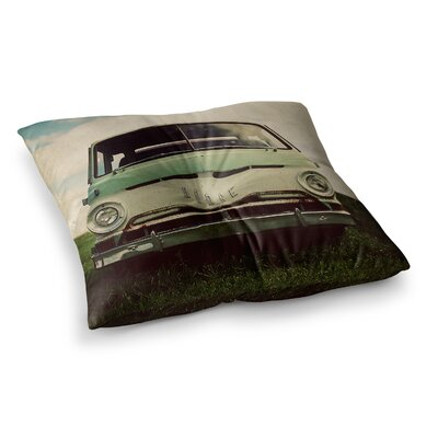 Dodge Car by Angie Turner Floor Pillow Size: 26 x 26